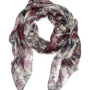NEW DIRECTIONS Black Floral Oversized Scarf Wrap